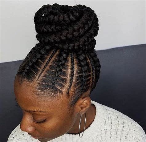 hairstyles for black women to pin the back of the hair flawless braided bun by narahairbraiding black hair