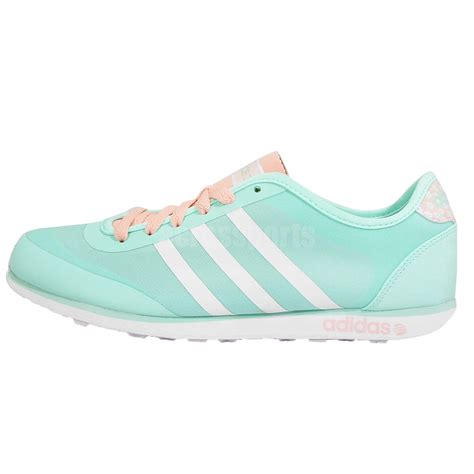 adidas neo groove tm w green white pink womens shoes