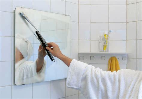 bathroom suck wiper mirror bathroom mirror with windscreen wiper
