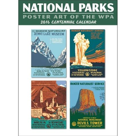 2016 National Parks Poster Of The Wpa Wall Calendar
