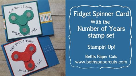 birthday spinner fidget spinner birthday card beth s paper cuts