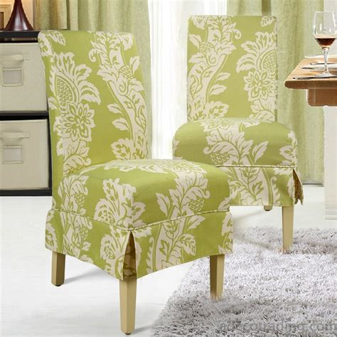 Adeco Green Floral Fabric Upholstery Dining Chairs With Green Fabric Dining Chairs