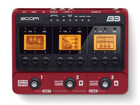 Zoom B3n Bass Pedal zoom b3 bass multi effects pedal zzounds