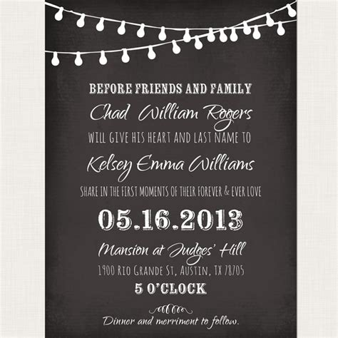 Chalkboard Wedding Invitations Template Resume Builder Chalkboard Invitation Template Free