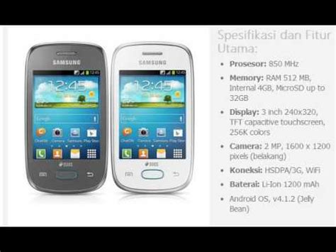 Hp Samsung Neo harga hp samsung galaxy pocket neo