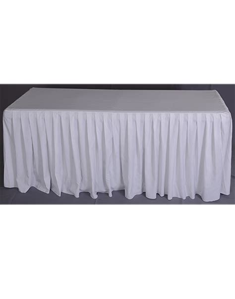 table skirt envelope style shirred pleat levon