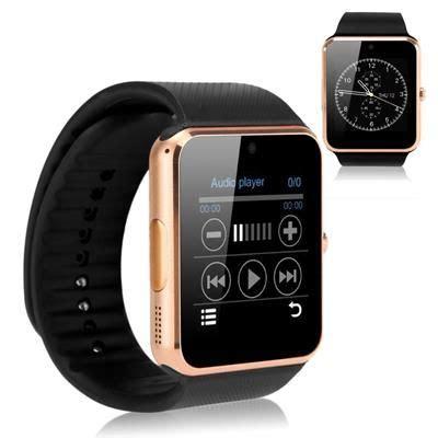 Best Smart Smartwatch Gt08 Gold Emas Gt08 Top Murah Bagus Murah smart ios and black gold on