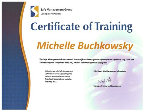 certificate programs the trainer