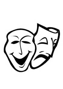 Theatre Mask Outline by Eps 2 Drama Masks Printable Coloring In Pages For Number Clipart Best Clipart Best