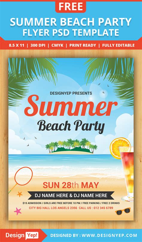 free summer flyer psd templates download styleflyers