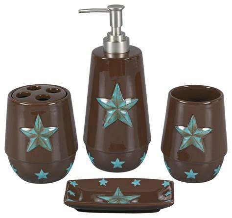 star bathroom set 4 piece turquoise star bathroom set bathroom accessory