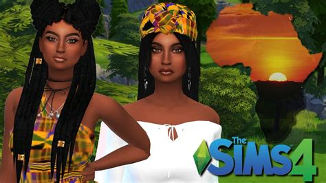 african cc hair for sism4 the sims 4 create a sim african twin sisters l youtube