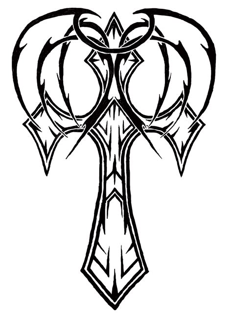 tattoo designs you can draw cool cross designs to draw clipart best