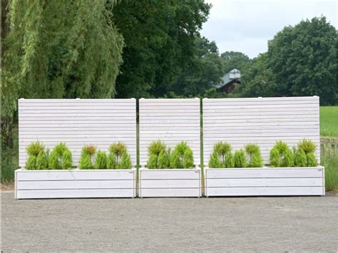 Sichtschutz Holz Weiss by Pflanzkasten Mit Rankgitter Heimisches Holz Made In