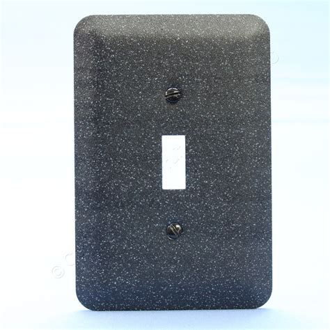 light switch covers leviton jumbo black granite metal decorative light