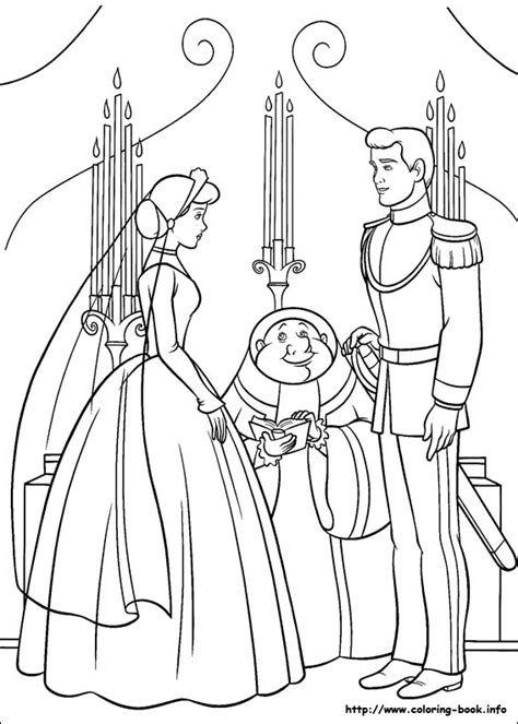 coloring pages of cinderella and prince charming cinderella coloring pages