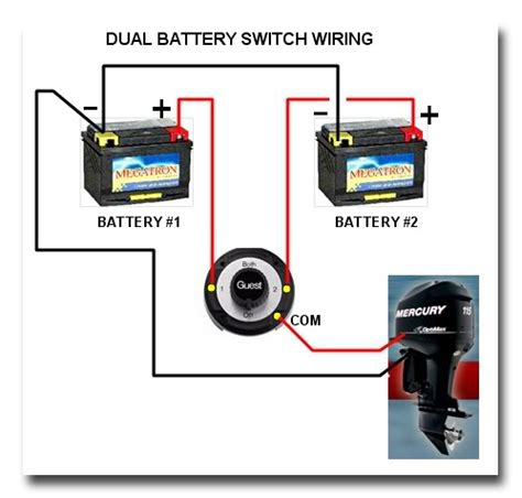 manual marine battery switch boat wiring easy to