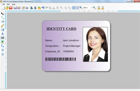 company id card template software id maker software creates company employees student