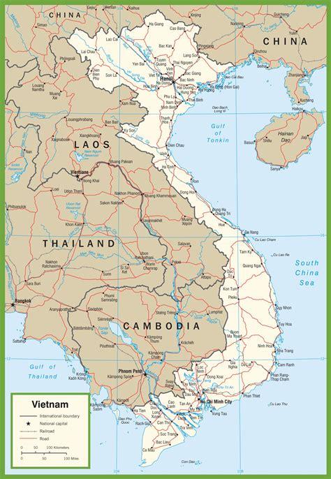 printable vietnam road map vietnam road map