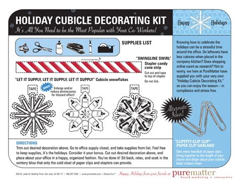 cubicle decorating kits holiday decorating office survival kit office survival