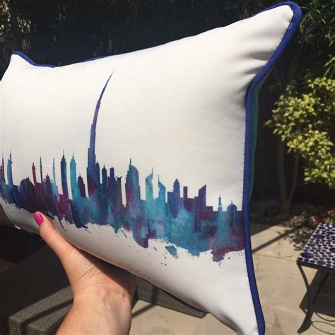 Outdoor Cushions Dubai Dubai Skyline Waterproof Outdoor Cushions Mums