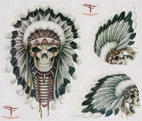 indian skull tattoo designs american chief skull www imgkid the