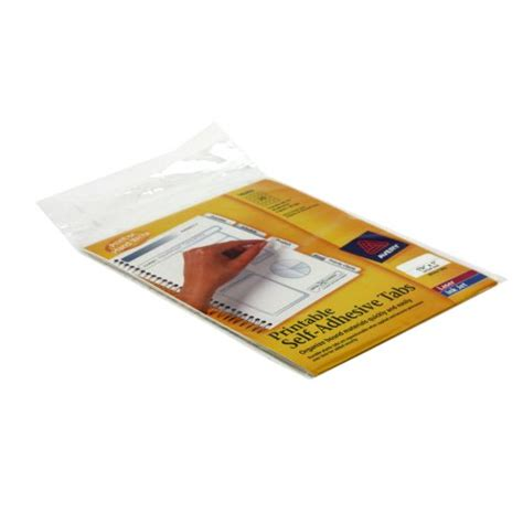 Avery White Printable Repositional Plastic Tabs 80pk 16282 72782162825 Ebay Avery Printable Self Adhesive Tabs 16282 Template