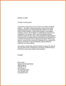Sle Letter Of Recommendation For High School Student by 10 Letter Of Recommendation For High School Student Marital Settlements Information