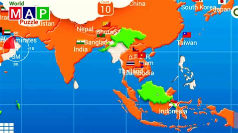 map of countries of asia map of asia and the countries in asia puzzle it