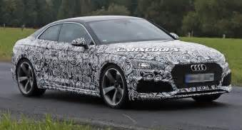 scoop all new audi rs5 coupe gets in shape