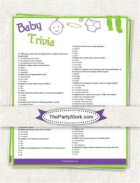trivia baby shower
