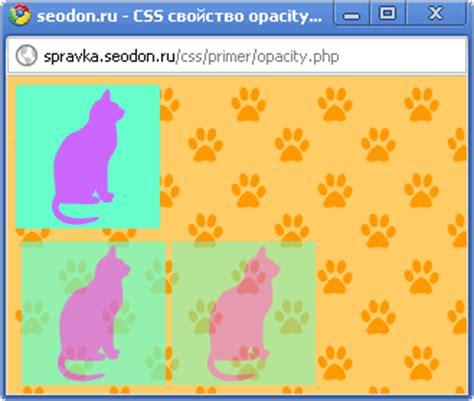 css div opacity seodon ru css справочник opacity