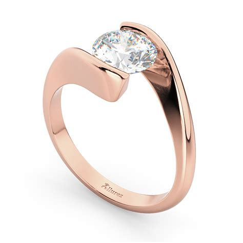 Tension Set Engagement Rings by Tension Set Solitaire Engagement Ring 14k