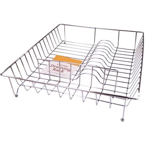 Large Dish Rack by Large Chrome Metal Wire Dish Plate Cutlery Holder Draining