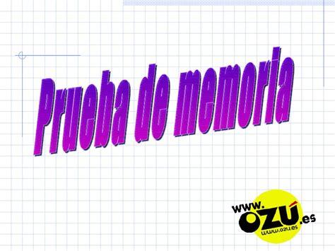 test memoria test memoria