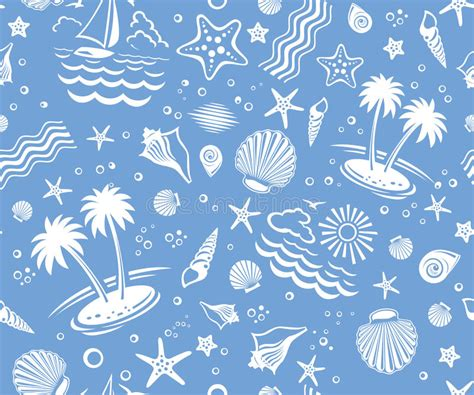 pattern heat vector seamless beach vector pattern royalty free stock photos