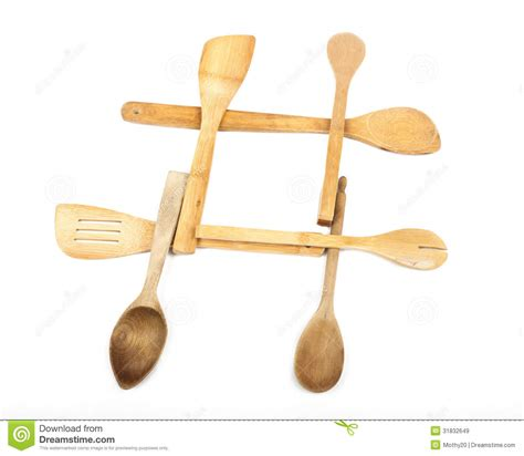 Wooden Spoon Hashtag Royalty Free Stock Images   Image