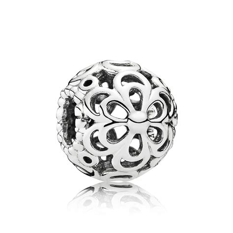 Charm Silver by Pandora Silver Flower Power Charm 790965 Greed