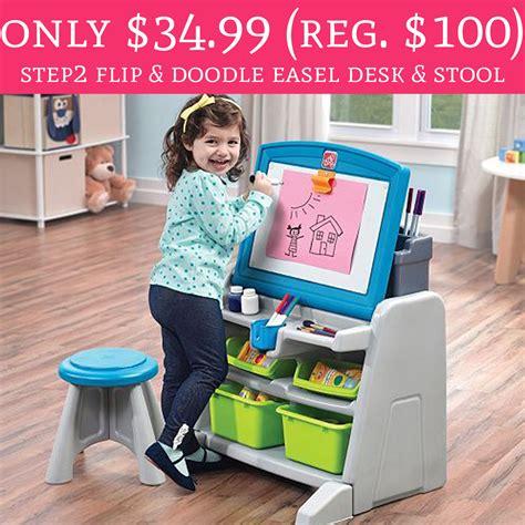 step2 flip doodle easel desk stool wow only 34 99 regular 100 step2 flip doodle easel