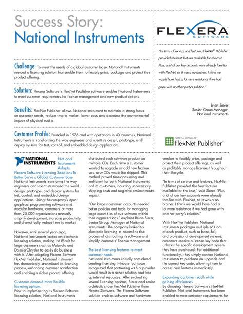 success nat flexnet publisher national instruments success story