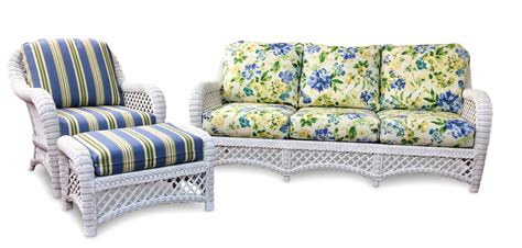 and white sofa set wicker sofa set and white wicker furniture lanai set of