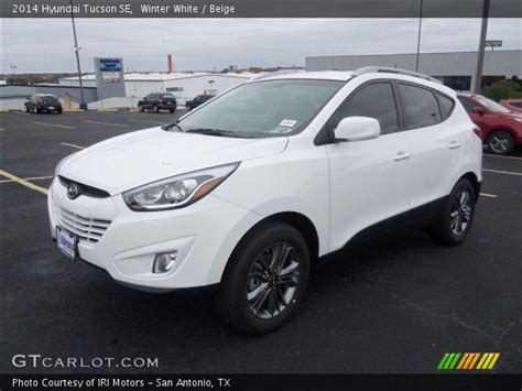 Winter White 2014 Hyundai Tucson Se Beige Interior