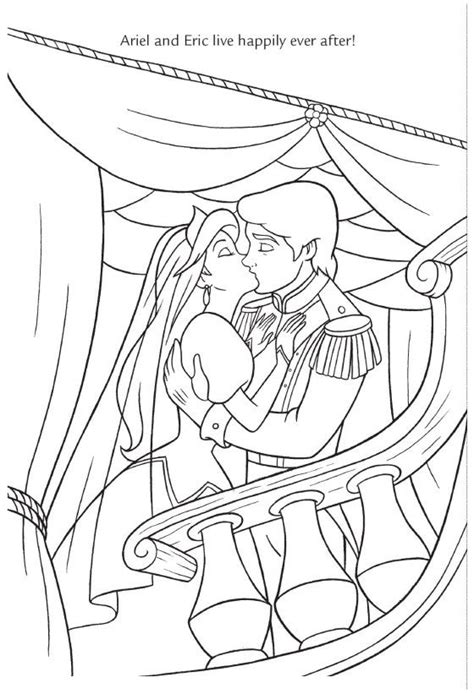 little mermaid wedding coloring pages 17 best images about disney coloring pages wedding on