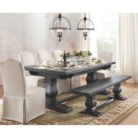 Aldridge Extendable Dining Table by Home Decorators Collection Aldridge Washed Black