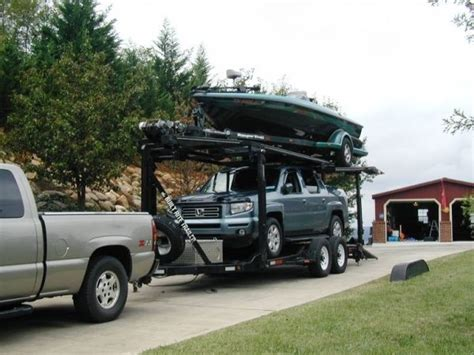 car and boat trailer double decker double deck stacker trailer divorce sale 26 foot boat
