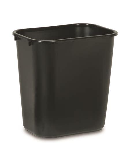 waste basket medium deskside waste basket 28 1 8 qt trashcans warehouse