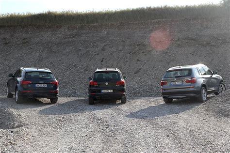 Vergleich Audi Q5 Bmw X3 by Vergleich Audi Q5 Und Bmw X3 Gegen Vw Tiguan Heise Autos
