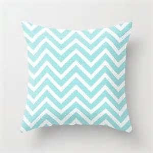 velveteen aqua chevron pillow aqua throw pillow