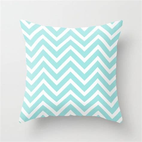 Room Decor Pillows Velveteen Aqua Chevron Pillow Aqua Throw Pillow