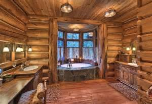 17 best images about log home bathroom on log